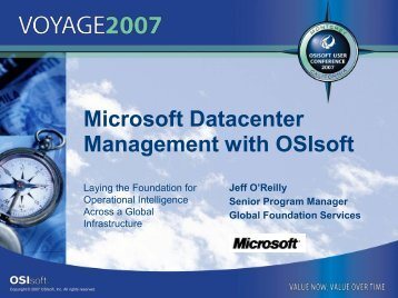 The Evolution of Datacenters - OSIsoft