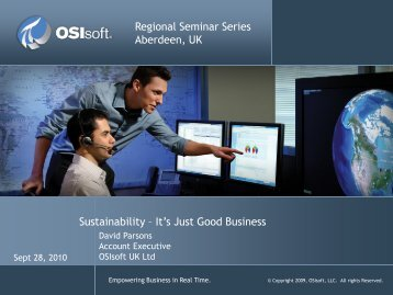 Sustainability—It Is Just Good Business - OSIsoft
