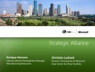 Strategic Alliance - OSIsoft