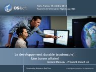 Développement durable - OSIsoft