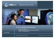 O PI na Gestão Operacional p - OSIsoft