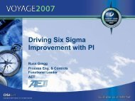 Driving Six Sigma Improvement with PI - OSIsoft