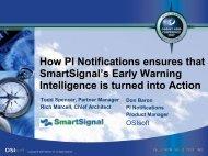 How PI Notifications ensures that SmartSignal SmartSignal ... - OSIsoft