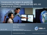 Overcoming Logistical Challenges with Collaborative ... - OSIsoft