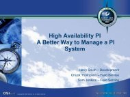 High Availability PI A Better Way to Manage a PI System ... - OSIsoft