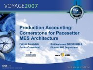 Production Accounting: Cornerstone for Pacesetter MES ... - OSIsoft
