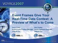What is an Event Frame? - OSIsoft