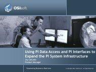 PI Data Access - OSIsoft