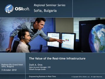 Running Business in Real Time - OSIsoft