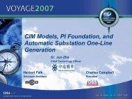 CIM Models, PI Foundation, and Automatic Substation ... - OSIsoft