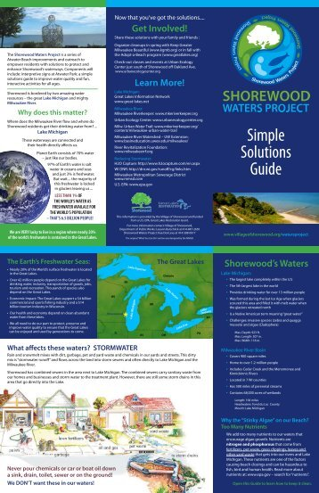 Simple Solutions Guide (.pdf) - Village of Shorewood