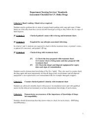 Department Nursing Services' Standards Assessment Checklist for ...