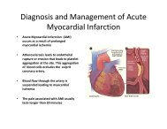 Diagnosis and Management of Acute Myocardial Infarction