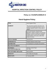 Hand Hygiene Policy - Local - Continuous Professional Development