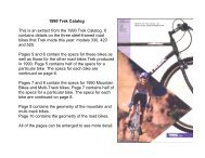 1990 Trek Catalog - Vintage Trek