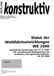 äkon truktw - Bundeskammer der Architekten und ...