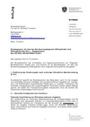 Bvergg-Novelle 2011 - Bundeskammer der Architekten und ...