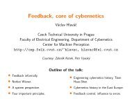 Feedback, core of cybernetics - Center for Machine Perception ...