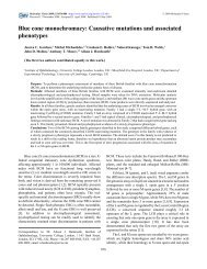 Causative mutations and associated phenotypes - Molecular Vision