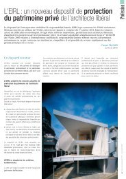 L'EIRL - Ordre des Architectes