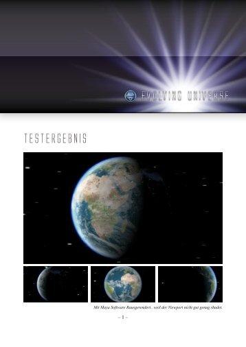Evolving UnivErsE Testergebnis