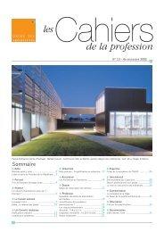 de la profession les - Ordre des Architectes