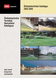 Toro 2003 teljes öntözési katalógusa
