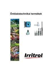 Irritrol öntözőrendszerek teljes katalógus