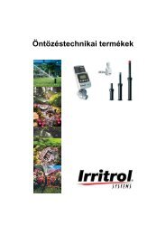 Irritrol öntözéstechnika katalógus