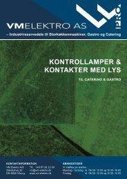 KONTROLLAMPER & KONTAKTER MED LYS - VM Elektro