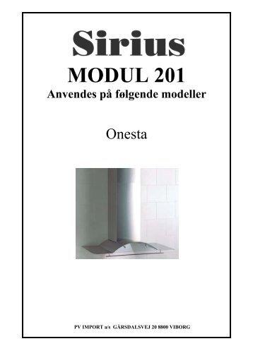 MODUL 201 Anvendes på følgende modeller - VM Elektro