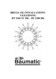 BRUGS- OG INSTALLATIONS- VEJLEDNING BT 2360 TC DK – BT ...