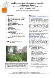 Architectes & développement durable en ... - Ordre des Architectes