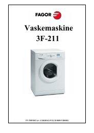 Vaskemaskine 3F-211 - VM Elektro