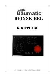 bf16 sk-bel kogeplade - VM Elektro