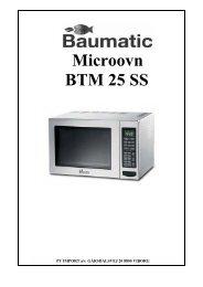 Microovn BTM 25 SS - VM Elektro
