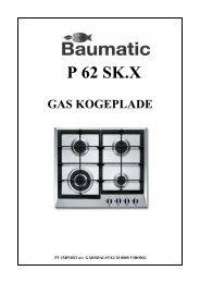 p 62 sk.x gas kogeplade - VM Elektro