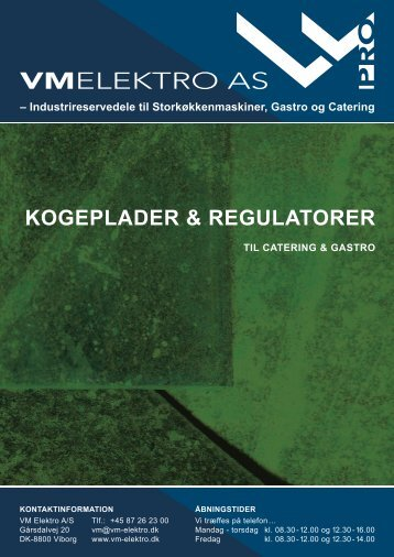 KOGEPLADER & REGULATORER - VM Elektro