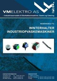 winterhalter industriopvaskemaskiner reservedele til - VM Elektro