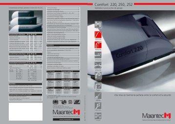 Comfort 220, 250, 252 - Architectes.ch