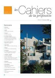 de la profession - Ordre des Architectes