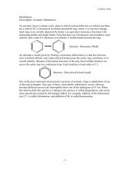 - 1 - Introduction. Electrophilic Aromatic Substitution An aromatic ring ...
