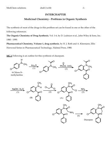 INTERCHAPTER Medicinal Chemistry - Problems in Organic ...