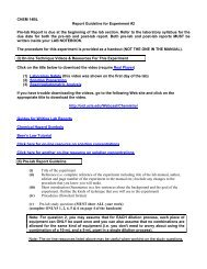 CHEM 14BL Report Guideline for Experiment #2 Pre-lab ... - UCLA