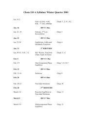 Chem 110 A Syllabus/ Fall Quarter 2000