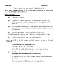 Report Guideline for Experiment #1