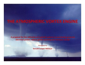 The Vortex Engine - A presentation by Don Cooper - PDF