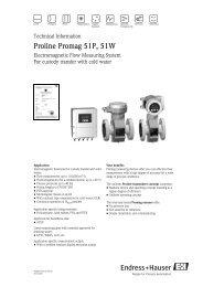 Proline Promag 51P, 51W