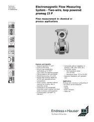 Electromagnetic Flow Measuring System - Standard Calibrations, Inc