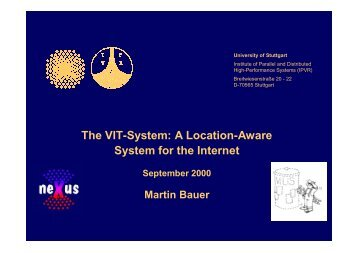 The VIT-System - The Distributed Systems Group